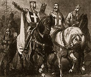 Вожди первого крестового похода (с гравюры Г.Дорэ)