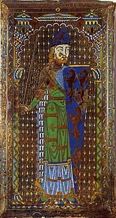 Эмалевый рисунок с могилы Жоффруа Плантагенета