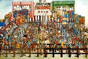 """Иллюстрация из знаменитого манускрипта короля Ренэ Анжуйского """"Le Livre du Tournois"""""""